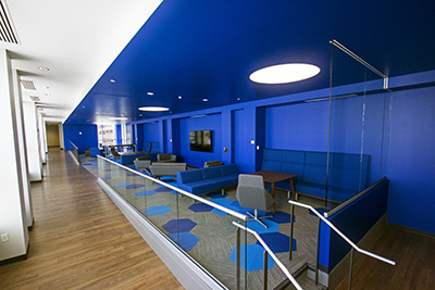 Blue Room on the second floor of the connector buidling