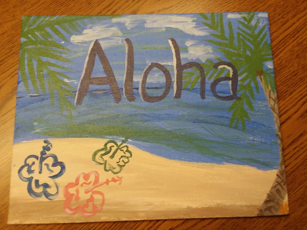 """Aloha Friend"", by Amy Dykstra at CCC"