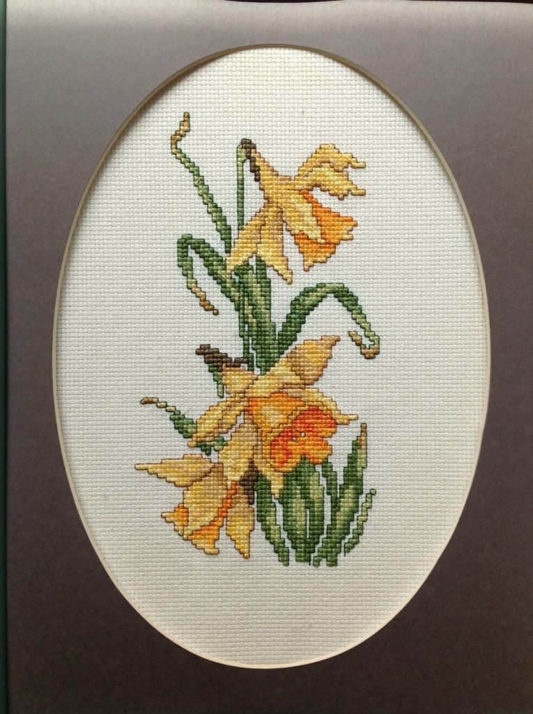 """Spring Flowers 1"", Cross Stitch by Kristine Harwood at SCC Belmont"
