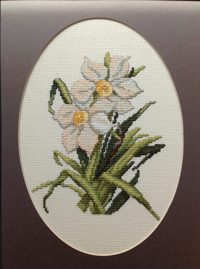 """Spring Flowers 2"" , Cross Stitch by Kristine Harwood at SCC Belmont"