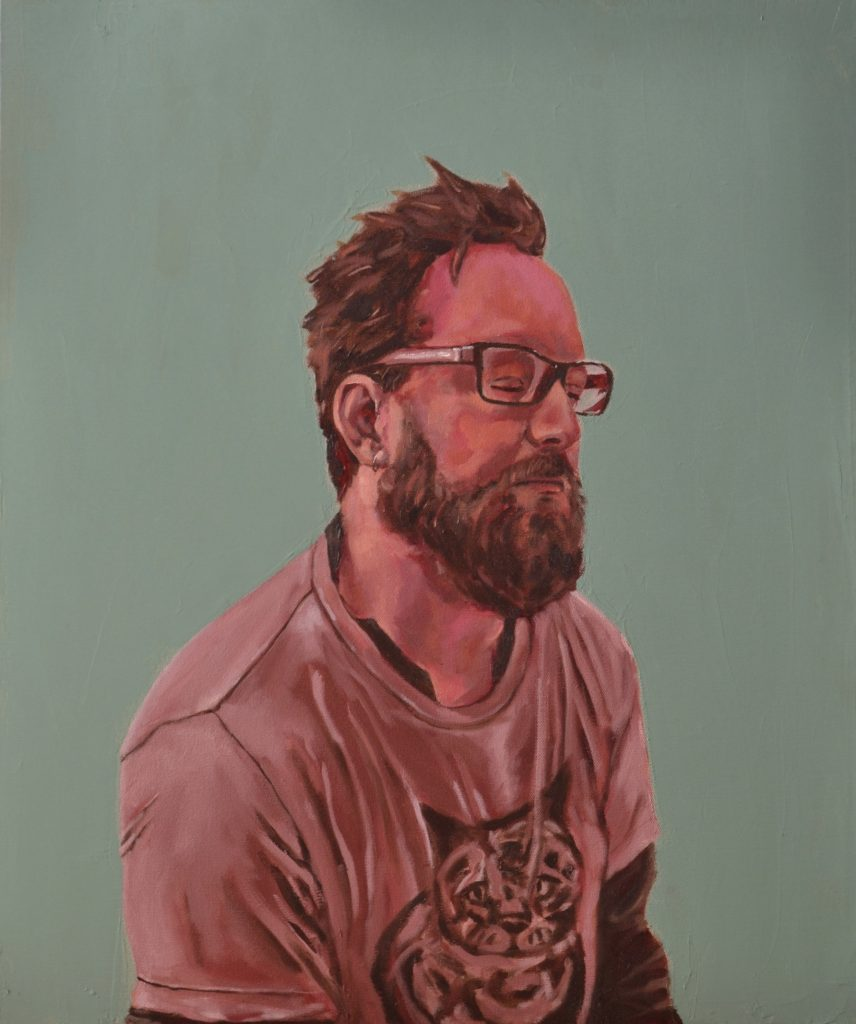 """Jeff"" oil on Canvas by Pheobe Jan Mcmahon, Art Instructor at CCC"