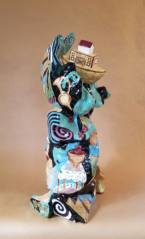 """Ark on a Wave"" Ceramic, by Rob Lipnick, Art Faculty at SCC Belmont"