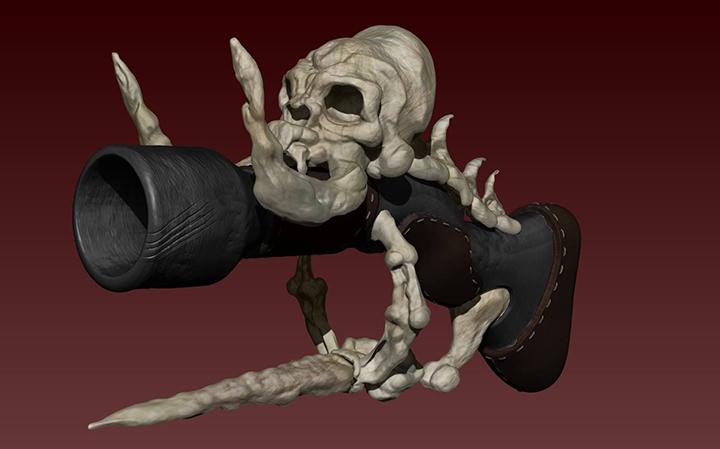 """Voo Doo Pistol"" 3D modeling by Tyler Halterman at the Urban Campus"