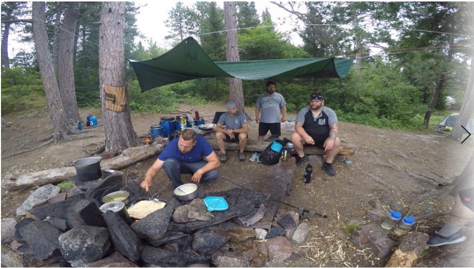 Preparing breakfast by campfire….Photo: Allison Nodurft