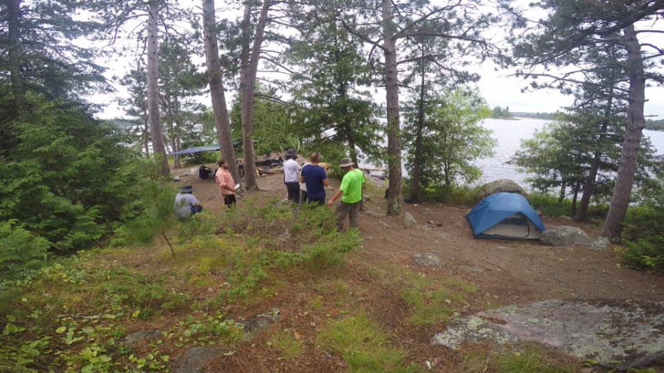 Wilderness Experience students learning about the plants and animals of the BWCAW. Photo: Allison Nodurft